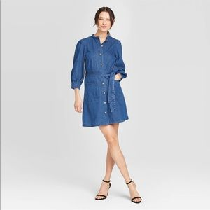 Puff Sleeve Denim Dress - Who What Wear